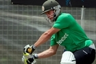 Zimbabwe batsman Malcolm Waller gets his eye in during the team's training session at Colin Maiden Park in Auckland. Photo / Brett Phibbs