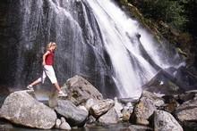 The Chatterbox Falls at Princess Louisa Inlet. Photo / Tourism BC