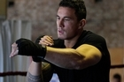 Sonny Bill Williams warms up at Boxing Alley. Photo / Brett Phibbs
