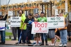 Ports of Auckland workers have taken  industrial action while little progress has been made to reach agreement on wages and conditions. Photo / Dean Purcell