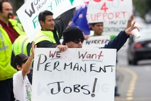 The current battle over labour issues is masking bigger  questions about the port's role in Auckland. Photo / Dean Purcell