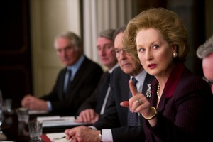 Meryl Streep, as Margaret Thatcher in The Iron Lady, points the way ahead for Britain. Photo / Supplied