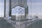 The brothel at 75 Victoria Street West would be 15 storeys high and right on SkyCity's front doorstep. Photo / Supplied