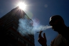 At least 43 per cent of people surveyed by the Herald support the public smoking ban. Photo / Brett Phibbs