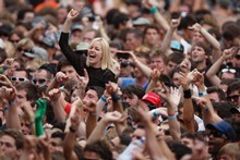 Crowds show support for Wolfmother at last year's Big Day Out. Photo / Richard Robinson