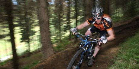 Tauranga rider Kris Snow. Mountainbiking in the Whakarewarewa Forest near Rotorua is now bringing in more money than the wood produced from it. File photo Joel Ford.