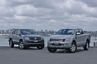 Ford Ranger (right) and VW Amarok. Photo / Supplied
