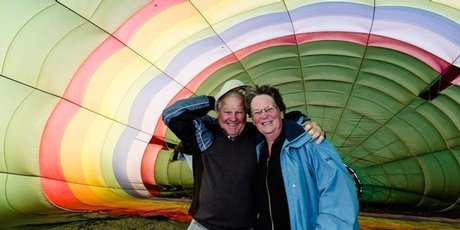 Masterton couple Ann and Desmond Dean, shortly before they died in the January 7 hot air balloon crash. Photo / supplied.