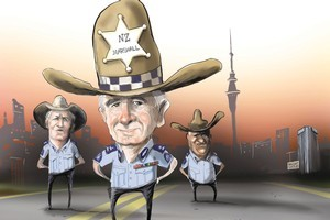 New Zealand's top cop Peter Marshall is a 'very inspiring man,' deputies say. Illustration / Rod Emmerson