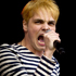 Gerard Way of My Chemical Romance performs for the crowd at the Big Day Out 2012. Photo / Dean Purcell