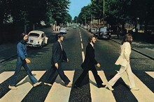 The Beatles cross Abbey Rd for the iconic cover of the group's last album. Photo / Supplied