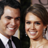 Cash Warren and Jessica Alba arrive at the 2012 Golden Globe Awards. Photo / AP