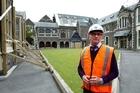 Arts Centre Director Ken Franklin in the North Quad. Photo / Simon Baker