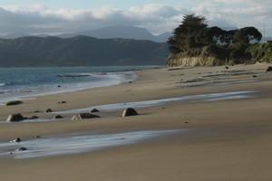 Opononi Beach on the Hokianga Harbour. Photo / APN