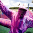 Punters enjoy themselves during a paint war at the Big Day Out 2012. Photo / Dean Purcell