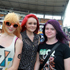 L to R, Ashlee Jacobs, Gemma Robson and Tylah Alexander at the Big Day Out. Photo / Herald on Sunday
