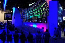 A standard annual feature of CES - screens, screens and more screens. Photo / AFP
