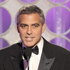 Presenter George Clooney appears during the 69th Annual Golden Globe Awards. Photo / AP