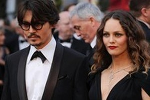 Johnny Depp and partner Vanessa Paradis. Photo / AP