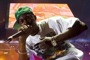 Dizzee Rascal performs at the 2008 Big Day Out. Photo / Richard Robinson