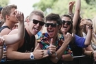 Fans enjoy listening to David Dallas perform on stage during Big Day Out 2012. Photo / Getty Images