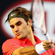 Roger Federer of Switzerland plays a backhand in his first round match against Alexander Kudryavtsev . Photo / Getty Images