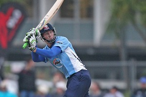Auckland's Martin Guptill smashed an undefeated 68. Photo / Getty Images