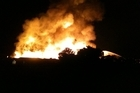 Lisa Rapley posted this Twitpic of the fire. Photo / supplied