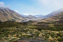 Looking east across rolling tussock hills. Photo / Andrew Stone