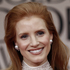 Jessica Chastain arrives at the 2012 Golden Globe Awards. Photo / AP