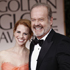 Kayte Walsh, left, and Kelsey Grammer arrive at the 2012 Golden Globe Awards. Photo / AP