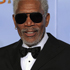 Actor Morgan Freeman poses backstage with the Cecil B. Demille Award during the 2012 Golden Globe Awards. Photo / AP