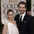  Amanda Peet, left, and David Benioff arrive at the 2012 Golden Globe Awards. Photo / AP
