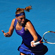 Petra Kvitova of the Czech Republic plays a forehand during her first round match against Vera Dushevina of Russia. Photo / Getty Images