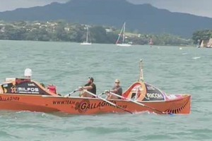 Team Gallagher arrived in Auckland today after crossing the Tasman. Photo / Supplied