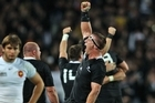 Brad Thorn celebrates on the fulltime whistle in the Rugby World Cup final. Photo / Getty Images