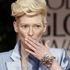 Tilda Swinton arrives at the 2012 Golden Globe Awards. Photo / AP