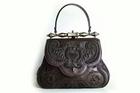 The calfskin bag created by Gherardini based on the design by Leonardo da Vinci. Photo / YouTube