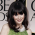 Zooey Deschanel arrives at the 2012 Golden Globe Awards. Photo / AP