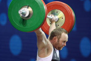 Richie Patterson is aiming to become the lightest New Zealand weightlifter to successfully hoist 200kg. Picture / Getty Images