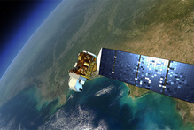 An artist's rendition of the next Landsat satellite, the Landsat Data Continuity Mission (LDCM) that will launch in Feb. 2013. Photo / NASA