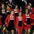 Athletes from Belgium parade during the Opening Ceremony. Photo / AP