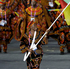 Cameroon's Annabel Laure Ali carries her country's national flag during the Opening Ceremony. Photo / AP