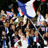France's Laura Flessel-Colovic carries the flag during the Opening Ceremony. Photo / AP