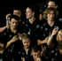 Members of the New Zealand team enter the Olympic stadium during the opening ceremony. Photo / AP