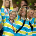 Swedish athletes parade during the Opening Ceremony. Photo / AP