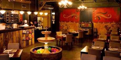 Besos Latinos, a Latin American restaurant in the Elliott Stables. Photo / Babiche Martens