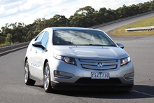 The slightly pre-production Holden Volt at the company's Lang Lang Proving Ground in Victoria. Photo / Matt Greenop