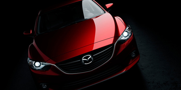 A teaser shot of the 2013 Mazda6 to be unveiled at the Moscow Motor Show in August. Photo / Supplied