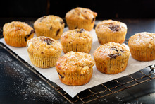 White and dark chocolate muffins with hazelnuts. Photo / Babiche Martens